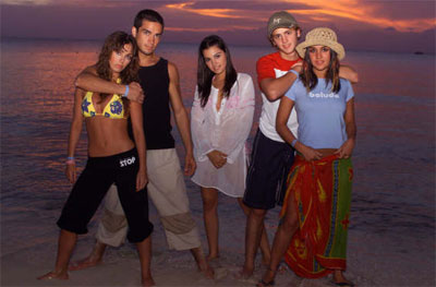 RBD en la playa