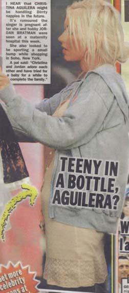 Chirstina Aguilera pregnant