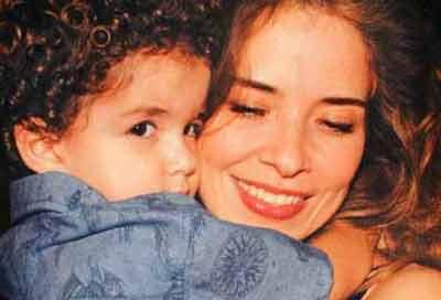 Gloria Trevi y su hijo