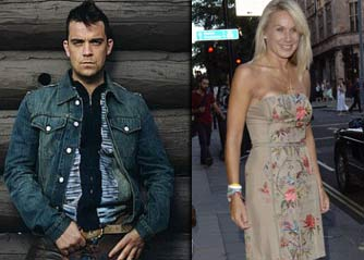Robbie Williams and Clare Staples