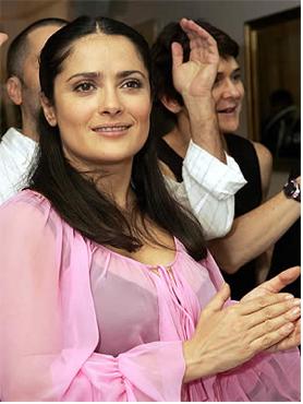 Salma Hayek captada en Los Angeles