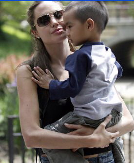 Angelina Jolie and son