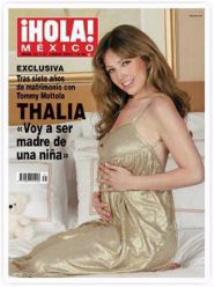 Thalia revista hola embarazada