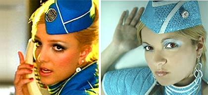 Andrea Fuentes la doble de Britney Spears