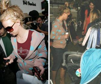 Britney Spears compró regalos al bebé de Christina Aguilera
