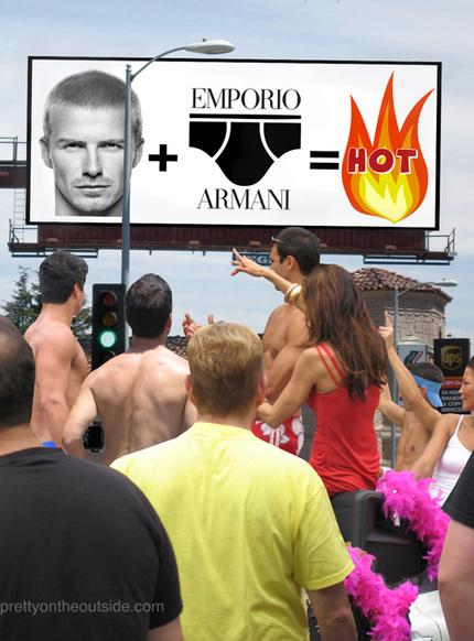 David Beckham modela en ropa interior para Armani