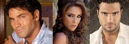 Jaime Camil, Jacqueline Bracamontes y Valentino Lanus
