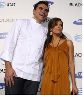 Eva Longoria y chef