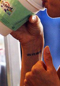 El tatuaje romántico de Eva Longoria, new tatto