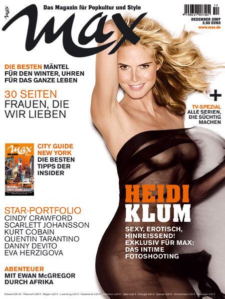 Heidi Klum  revista Max