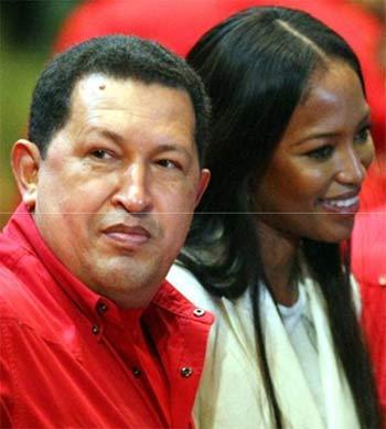 Naomi Campbell Hugo Chávez