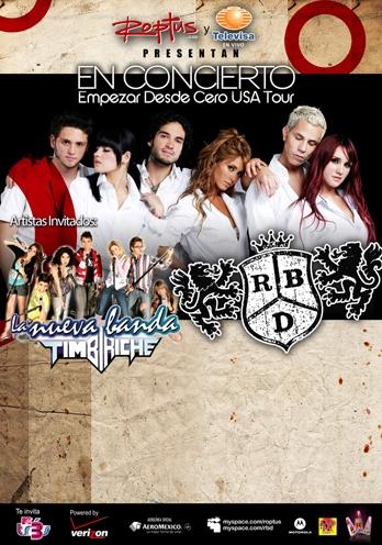 RBD y La Nueva Banda Timbiriche juntos de gira en Estados Unidos