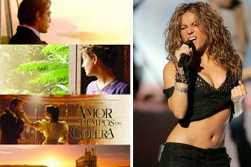 """Shakira y Javier Bardem nominados al Globo de Oro por """"El amor en los tiempos del cólera"""""""