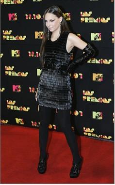 Belinda  en MTV 2007 alfombra roja