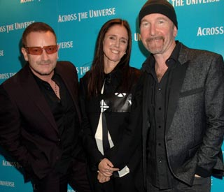 Bono Julie Taymor y The Edge