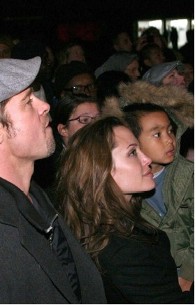 Brad Pitt , Anilina Jolie  y Maddox