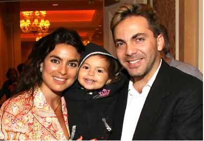 Cristian Castro y esposa