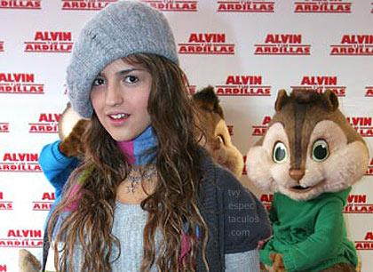 Eiza González Alvin y las ardillas