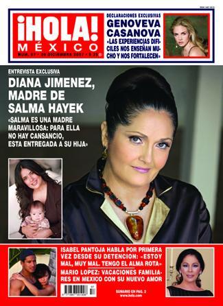revista Hola cuando presentó en portada a la mamá de Salma