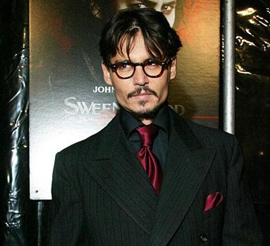 Johnny Depp en premier Sweeney Todd