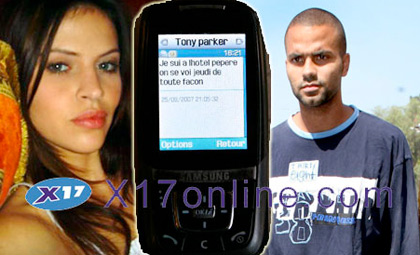 Alexandra Paressant y Tony Parker SMS