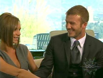 David Beckham y Victoria en tv