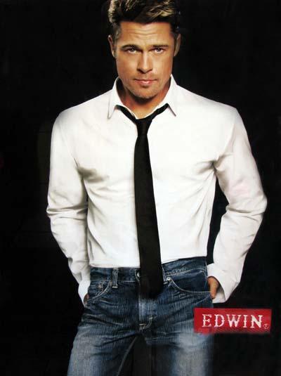 Brad Pitt anunciando Jeans Edwin