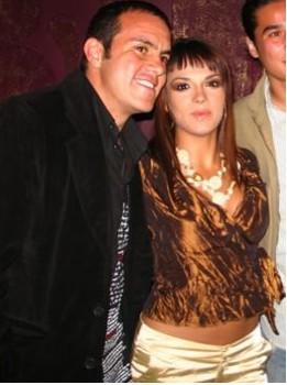 Cuauhtémoc Blanco y Rossana Nájera