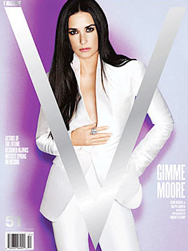 """Demi Moore en la portada de """"V"""""""