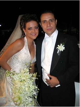 Elsa Burgos en boda