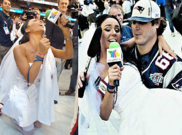 Ines Gómez Mont de novia en Super Bowl XLII