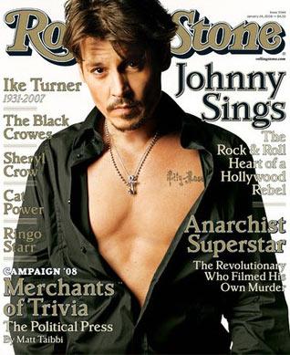 Johnny Depp en la portada de la revista Rolling Stone