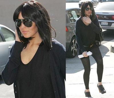 Lindsay Lohan black hair