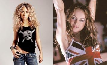 Shakira y Paulina RUbio