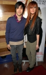 Ashlee Simpson y Pete Wentz en la fiesta de presentación de su disco