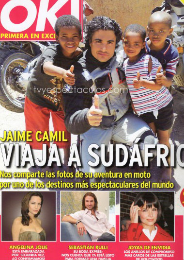 Jaime Camil en la portada de la revista OK