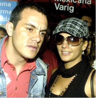 Rossana Nájera  con Cuauhtémoc Blanco