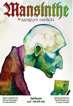 Marilyn Manson bebida Mansinthe