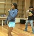 Eiza González captada en los ensayos para la gira de Lola Érase una vez