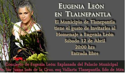 Eugenia León tendrá un teatro con su nombre