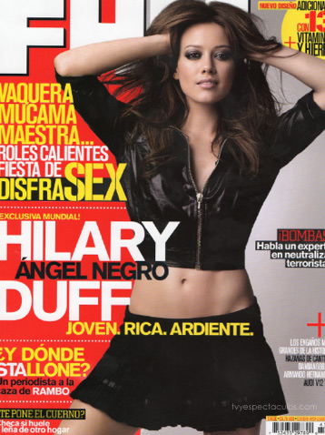 Hilary Duff en la revista FHM