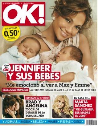 Jennifer Lopez y gemelos