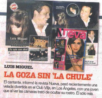 Luis Miguel  y nuevo romance