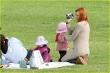 Marcia Cross  con sus hijos