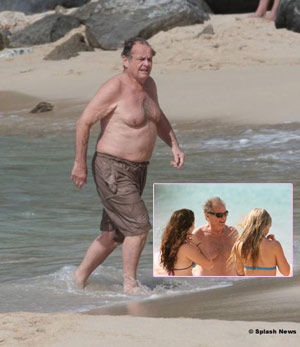 Jack Nicholson vacacionado en la playa