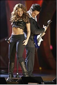 Shakira y Sanz concierto