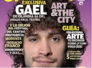 Gael García Revista Chilango con  afro hippie