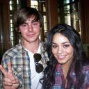 Zac y Vanessa en set de High School Musical
