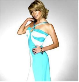 Ingrid Coronado vestido azul