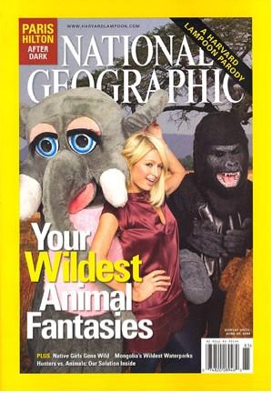 Paris Hilton portada National Geographic natgeo gorila elefante